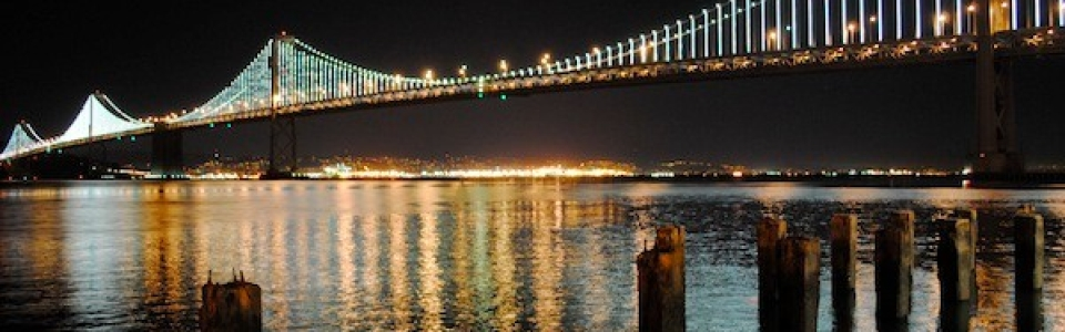 bay bridge lights