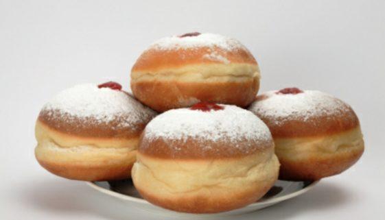 Hanukkah donuts, isolated