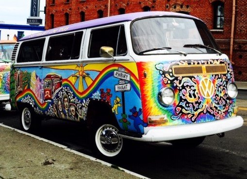VW Hippie Bus Love Bus post-makeover